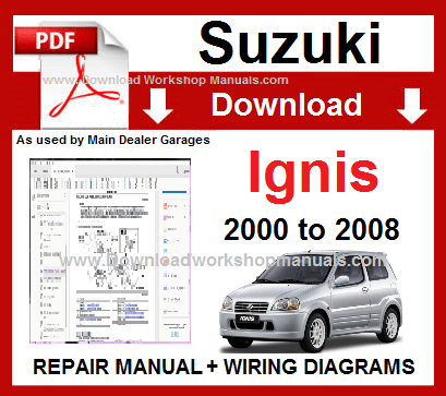 Suzuki Ignis 2000 To 2008 Workshop Repair Manual Download Repair Manuals Suzuki Swift Repair