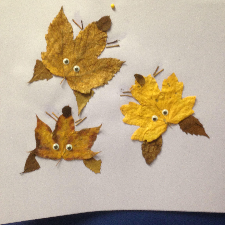 Verschiedene Blätter zum Tehma Herbst