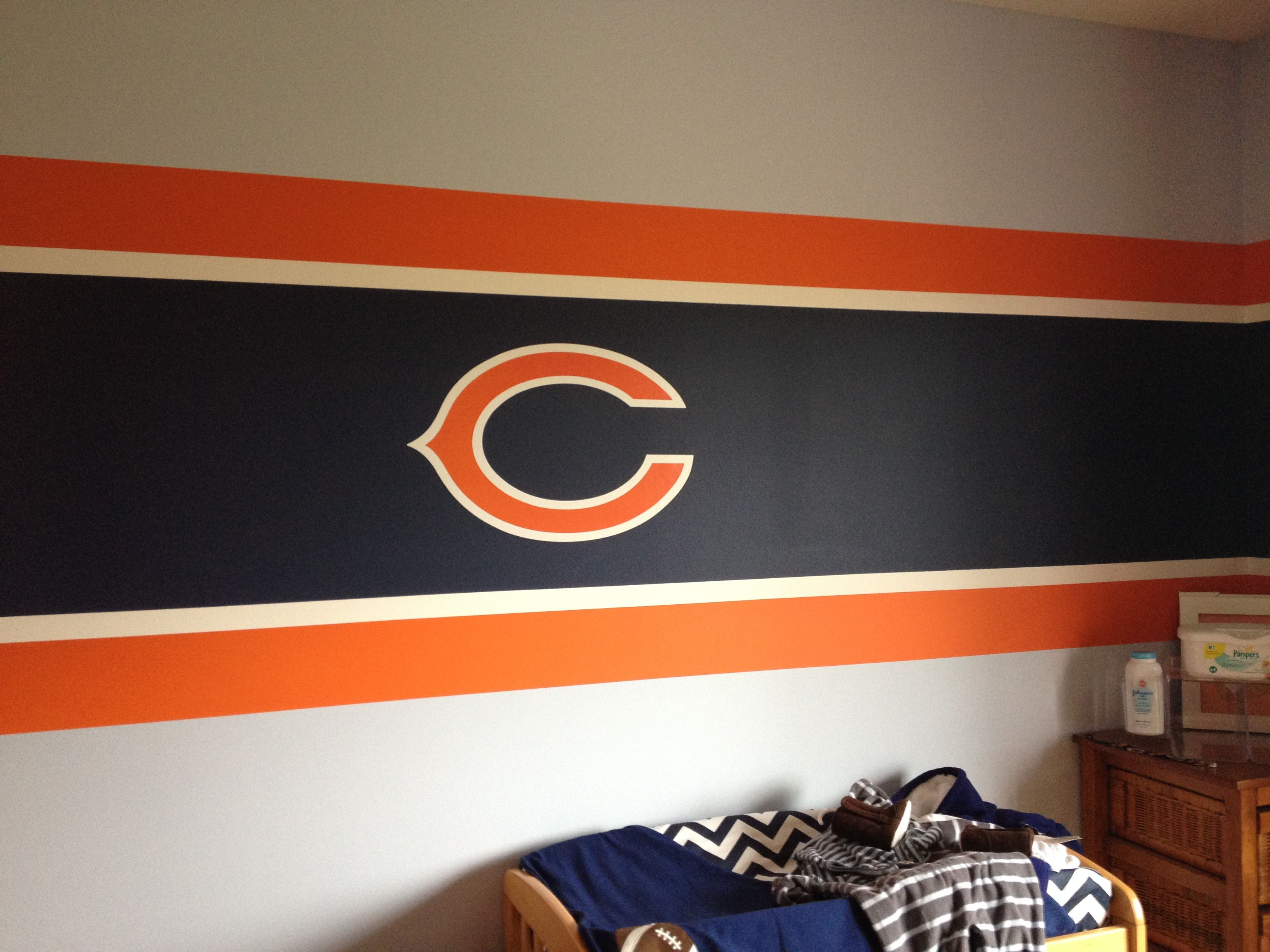 Chicago Bears Theme Room With Images