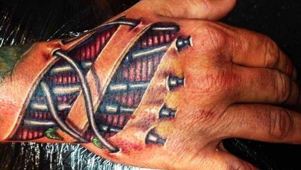 biomechanik 3d hand tattoo biomechanik pinterest. Black Bedroom Furniture Sets. Home Design Ideas