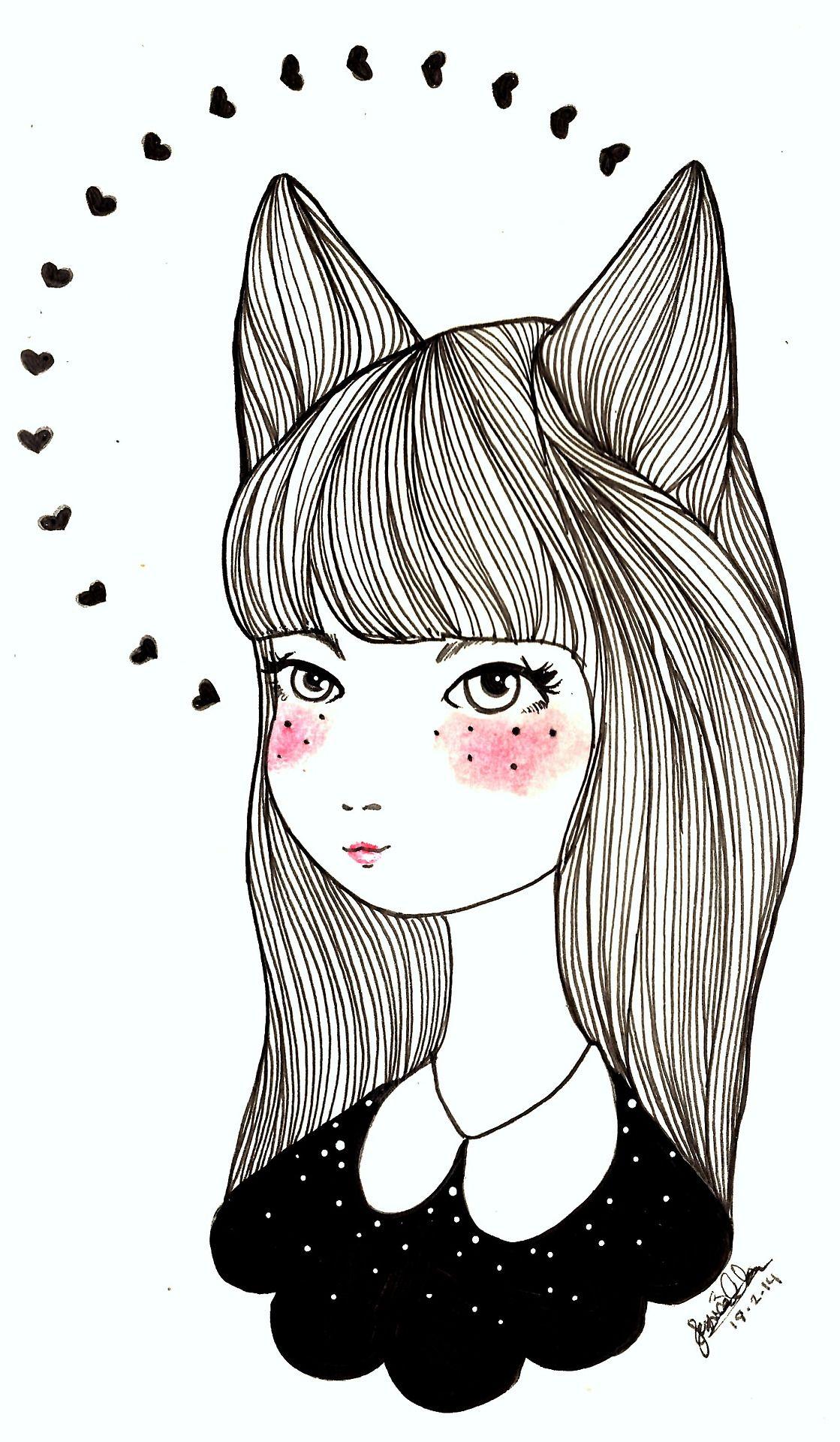 Cat Illustration Tumblr tumblr_n1bcut8y...