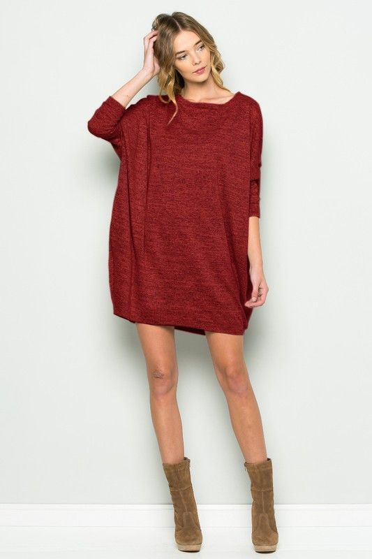 Feel the Love Dress- Red