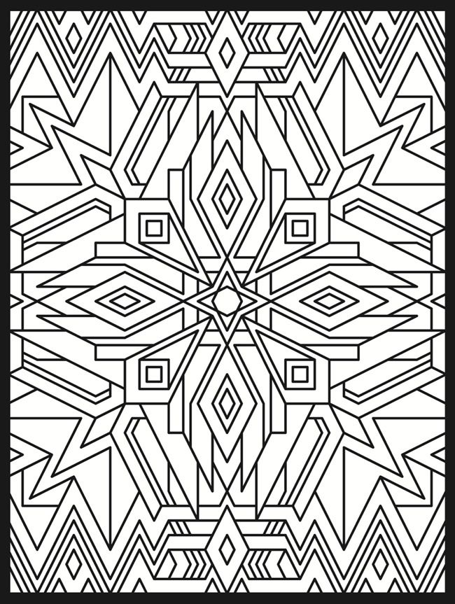 Deco Tech Stained Glass Coloring Book | Coloring Pages | Pinterest ...