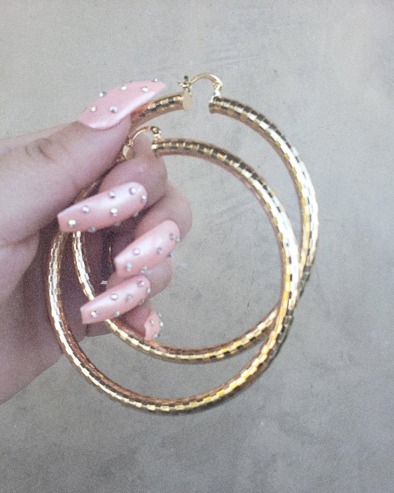 Shop big statement hoops at xipiteca.com   #nails #nailsdid #hoopearings #latina