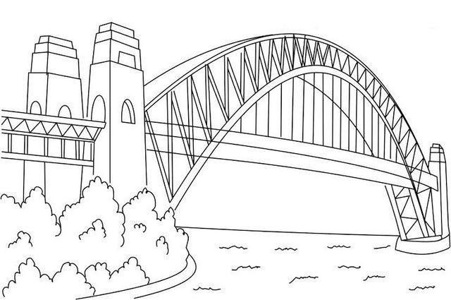 Sydney Harbour Bridge Coloring Page Bridge Coloring Page Design
