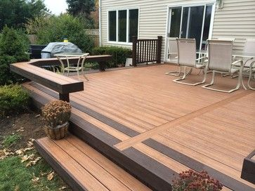 Two Tone Decking Design Ideas Pictures Remodel And Decor Deck