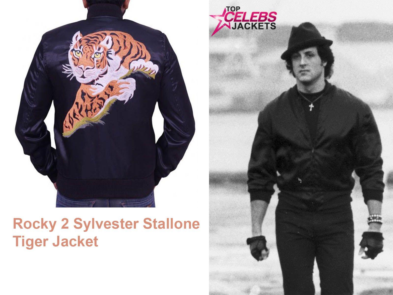 Rocky 2 Sylvester Stallone Tiger Jacket Rocky Sylvester Stallone