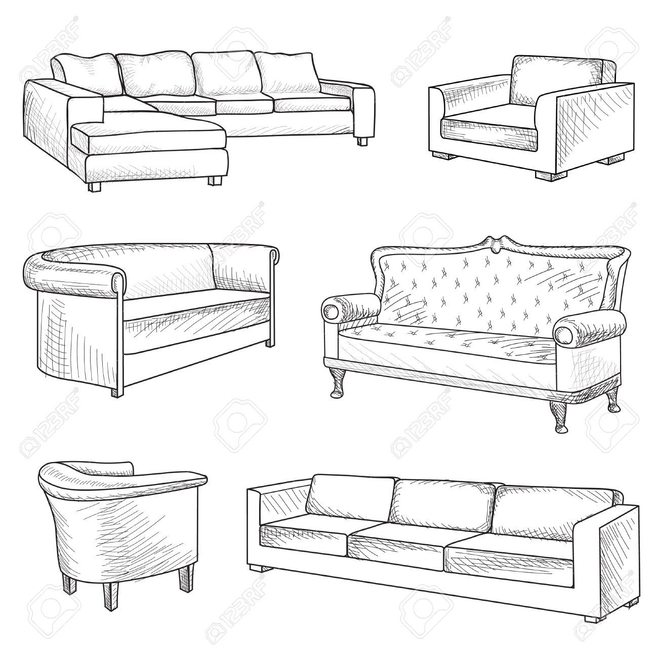 Couch Drawing sofa sketch - google search … | pinteres…