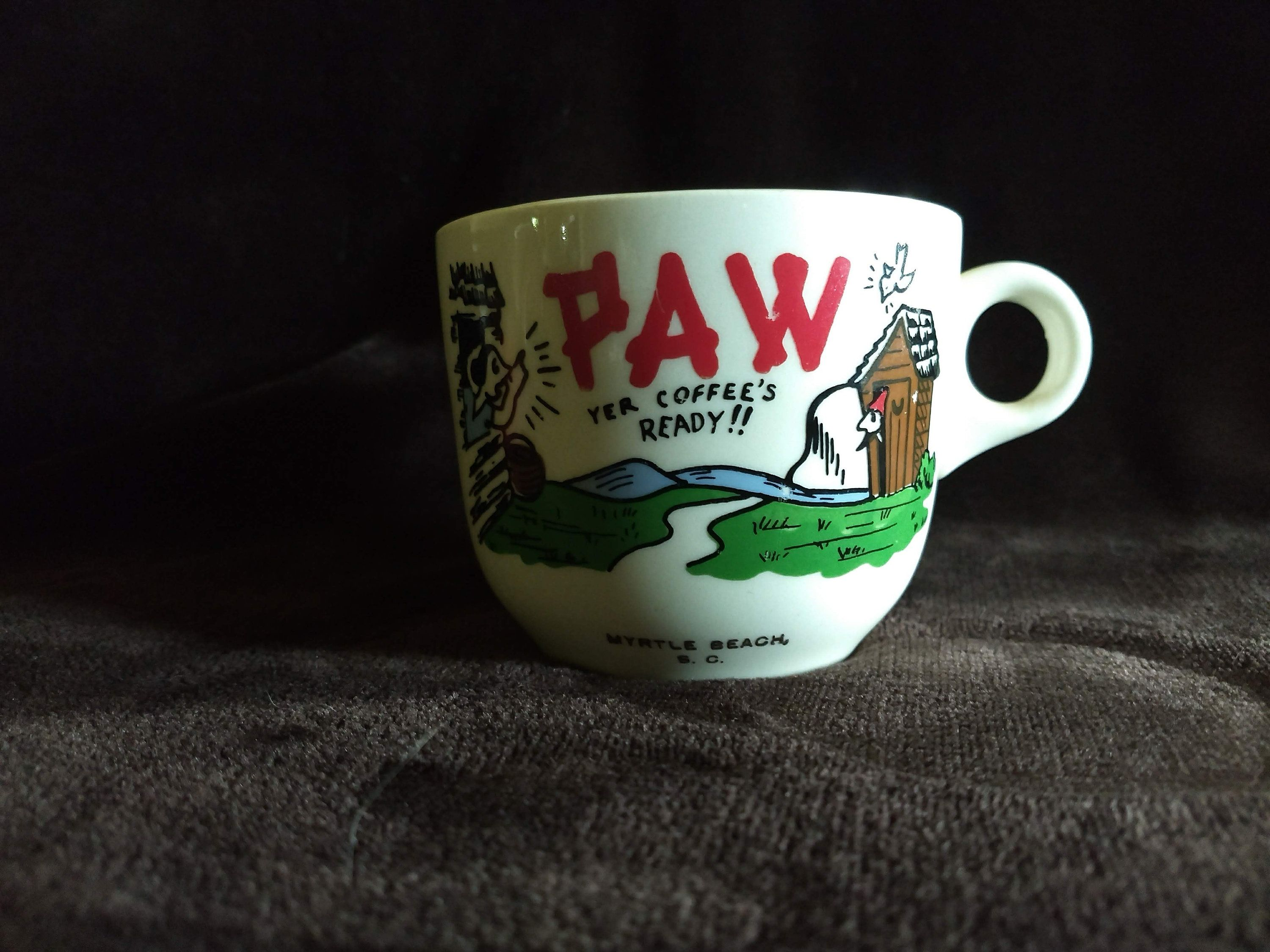 Excited To Share The Latest Addition To My Etsy Shop Paw Yer Coffee S Ready Myrtle Beach Sc Mug Https Etsy Me 2jiafc9 Housewares My Coffee Mugs My Glass