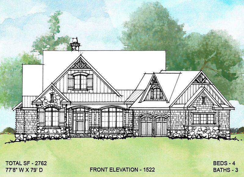 House Plan 1522 Rustic Two Story House Plans Courtyard Entry Rustic Exterior