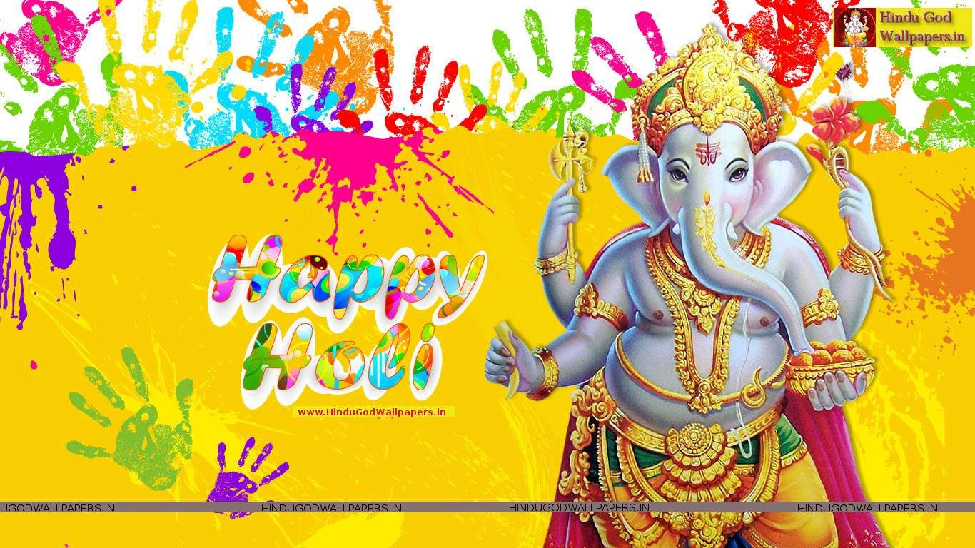 Ganesh Holi Wallpapers Colorful Happy Festival With HD Photos Images And Pictures For Desktop