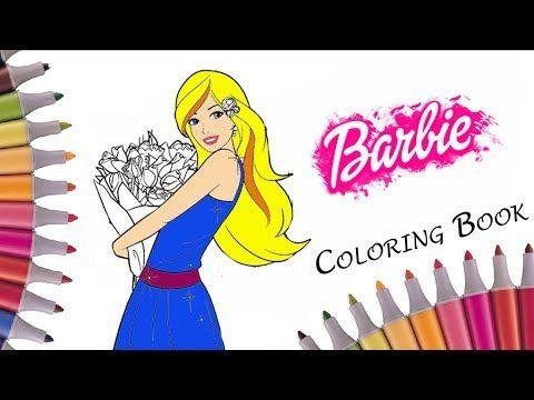 Coloring Barbie Dress Coloringpages Barbie Coloring Book Kids Fun Art Activities Videos For Children Yo Barbie Coloring Pages Barbie Coloring Barbie Princess