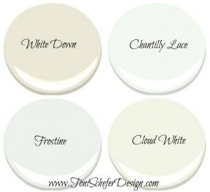 White Cabinet Paint Color By Benjamin Moore Down Ivory