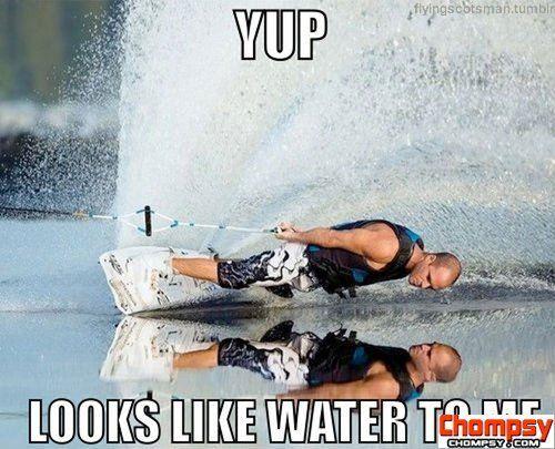 looks like water