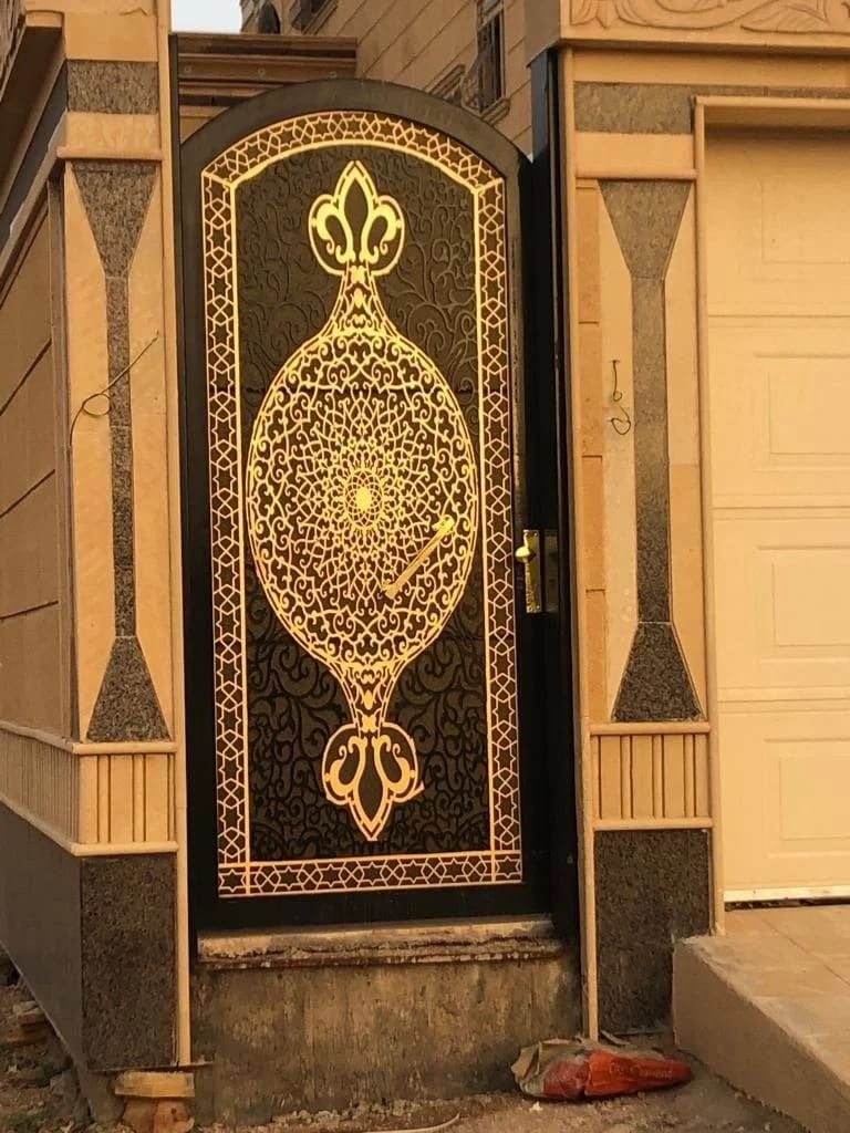 Laserdoors Metaldoors Lasercut Riyadhdoors Caddesign Arabiandoors Gate Gatedesign Door Doors Laser Nicedoors Cnc Saudi Riyadh H Door Design Metal Gates Design