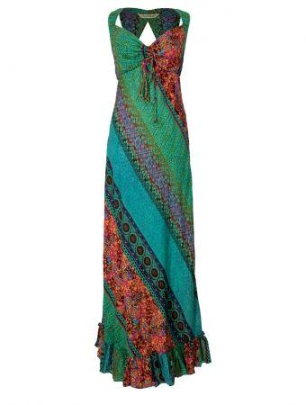 6ae6fbe7db2 Hippy Dress Bohemian Maxi Dress Colourful Panel Effect Long Summer Hippy  Dress Fairtrade by Folio Gothic Hippy PK22