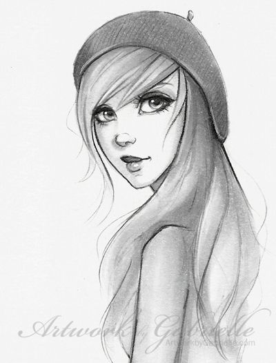 Fine Long Hair Beautiful Girl Sketch Illustration Drawing Bella Hairstyle Inspiration Daily Dogsangcom