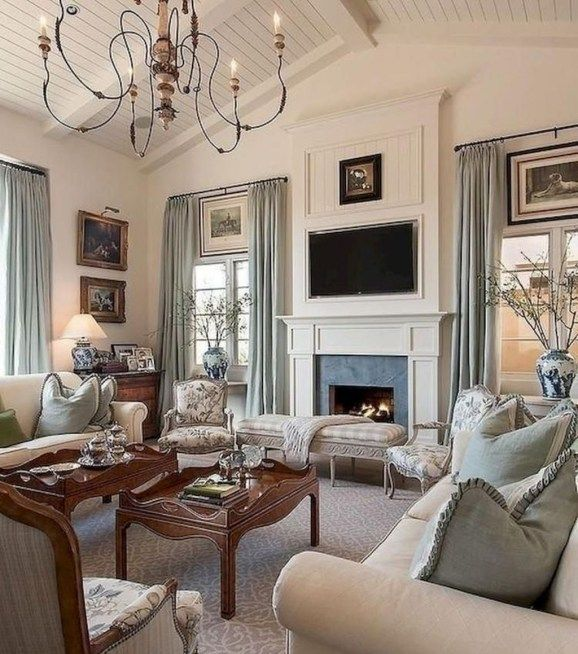 Cozy French Country Living Room Decor Ideas 08 | French ...