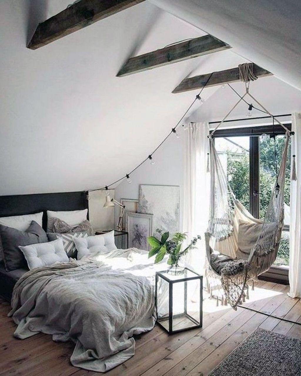 41 Beautiful Scandinavian Bedroom Loft Design Ideas