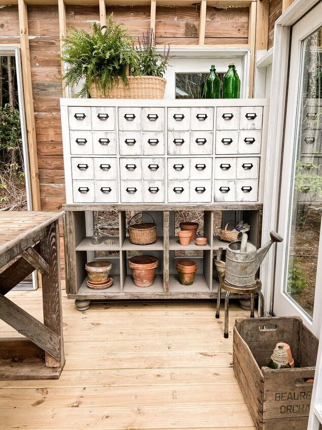DIY Faux Apothecary Cabinet - (Card File Chest)