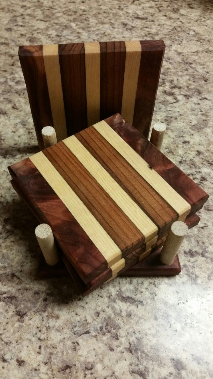 Cedar Pine And Redwood Coasters Cedar Wood Projects Wood Coasters Diy Wood Coasters