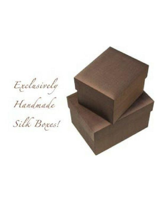 Chocolate Brown Silk Box