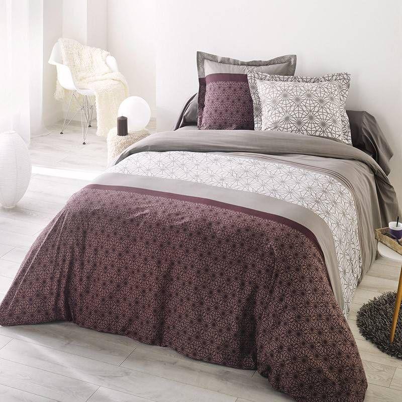 La compagnie du blanc d voile son linge de maison haute - Parure de lit beige et marron ...