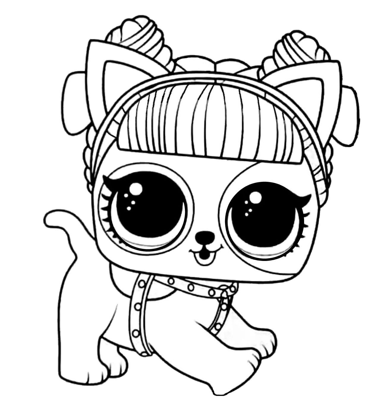 Lol Surprise Coloring Daring Doggie In 2020 Cute Coloring Pages Lol Dolls Coloring Pages For Kids