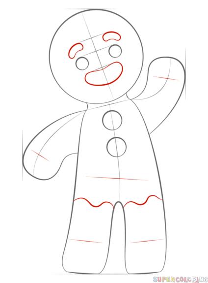 Gingerbread Man Drawing Pryanichnyj Chelovechek Risunki Detskoe Tvorchestvo