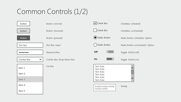 free windows 8 wireframe templates for powerpoint | wireframe, Presentation templates