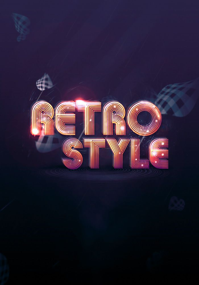 Create Abstract Shining Text Effect With Groovy Font In