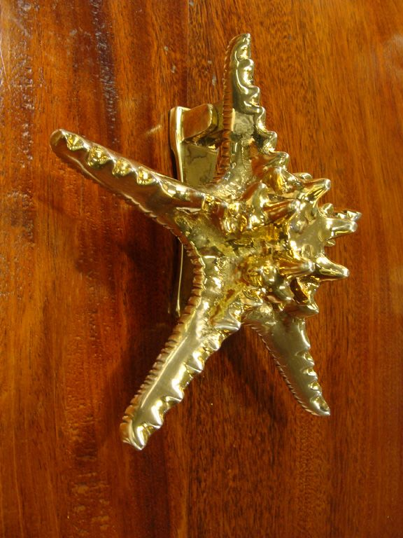 Solid cast brass starfish door knocker cast from a real knob sea star starfish! Mounts & Solid cast brass starfish door knocker cast from a real knob sea ...