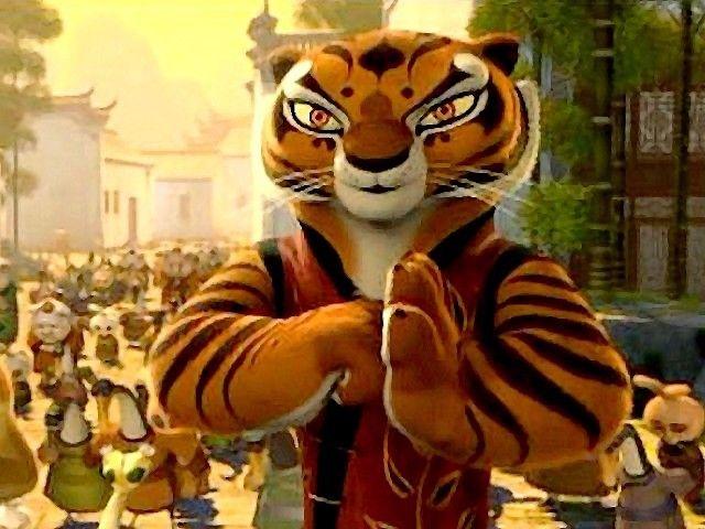 kung fu panda master tigress bowing to po master tigress from the charming tale