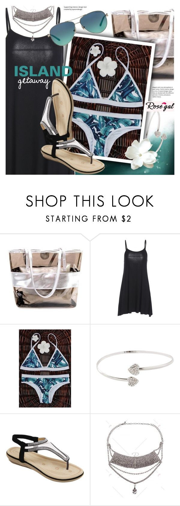 """""""Rosegal chic island getaway in high-neck bikinis"""" by vn1ta ❤ liked on Polyvore featuring Tiffany & Co."""