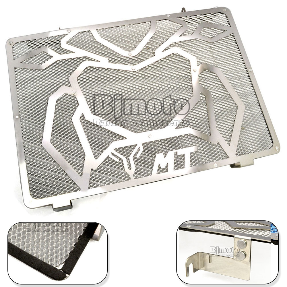 38.70$  Watch more here - http://aih9x.worlditems.win/all/product.php?id=32461753178 - Free Shipping Motorcycle Engine Radiator Bezel Grille Grill Guard Cover Protector Silver For Yamaha MT09 Stainless Steel