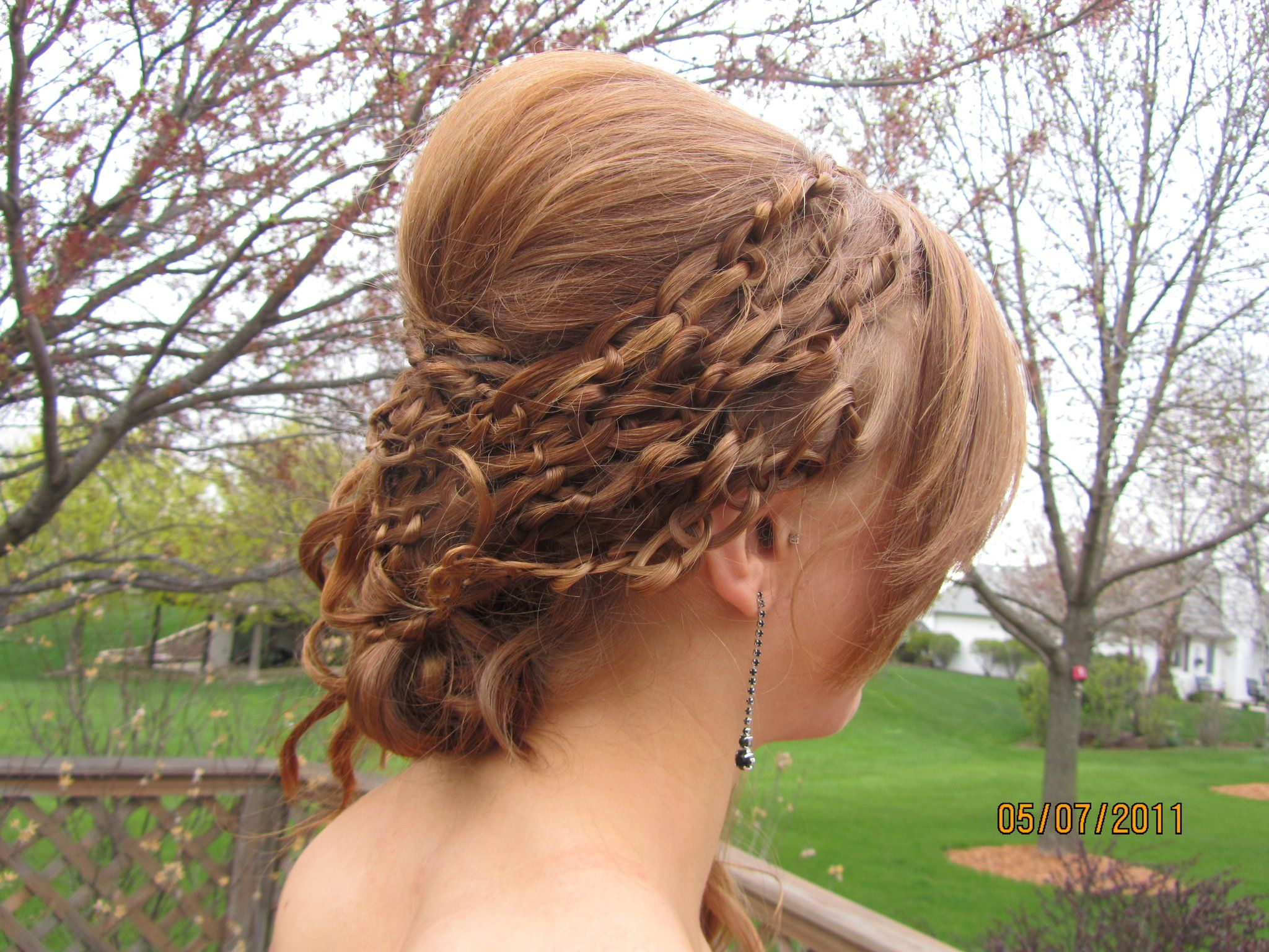 Those are actually knots It looks really cool Hair