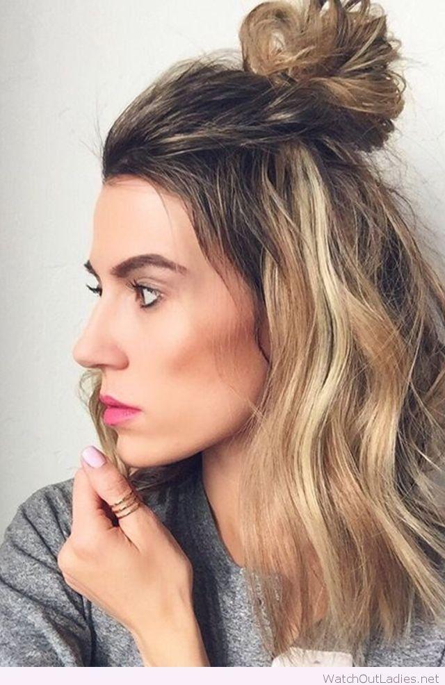 Cool Half Up Bun Watchoutladies Net Pinterest Hair Hair