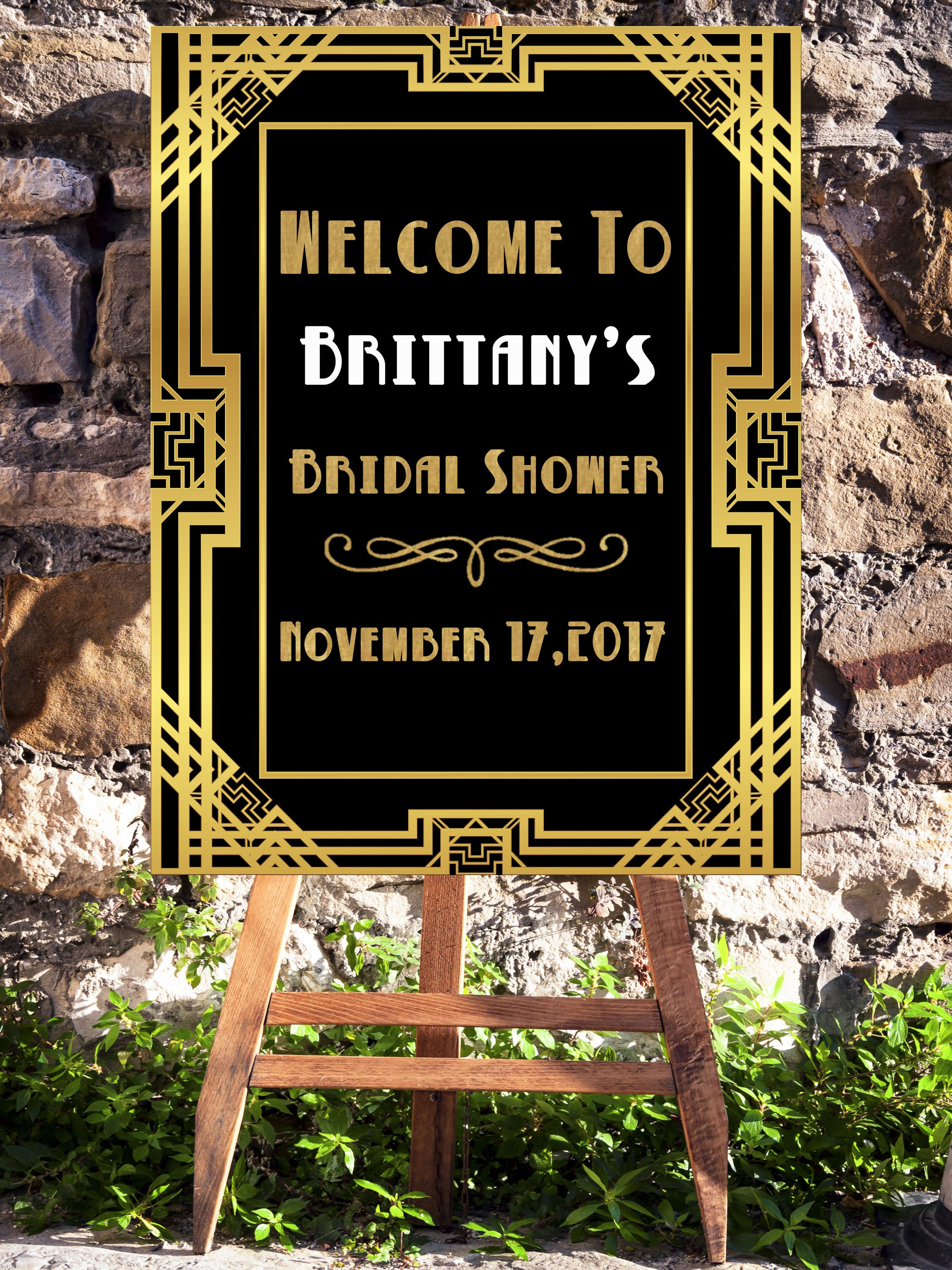 1920's wedding decorations ideas november 2018 Great Gatsby Party Decorations Welcome Sign For A Gatsby Party