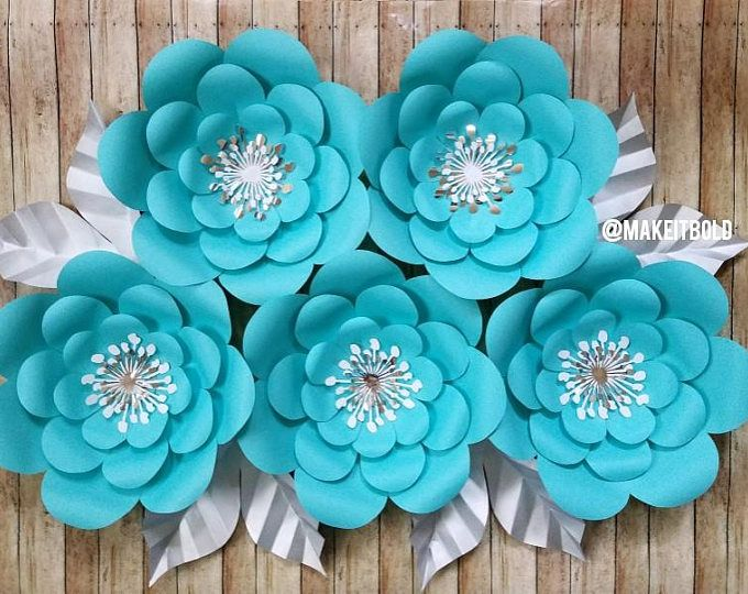 Paper Flowers Breakfast At Tiffanys Decorations Tiffanys Bridal