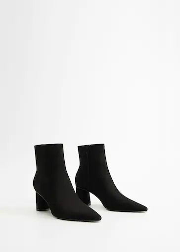 Skorzane Botki Na Obcasie Duze Rozmiary Violeta By Mango Polska Boots Ankle Boot Leather Ankle Boots