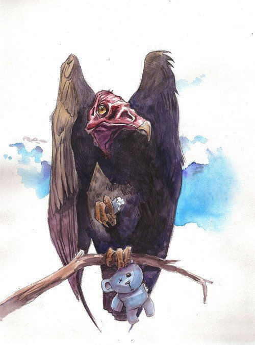 """Turkey Vulture""...Watercolor Painting 11"" x 14"" Price includes shipping and handling in the U.S. only. Shipping outside of the U.S.? Please email us and we will get the lowest cost for the best way a"