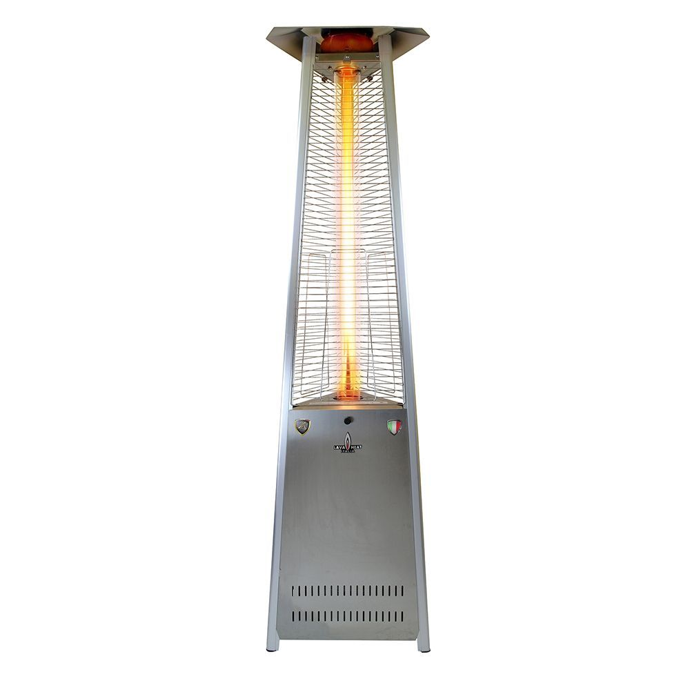 Lava Heat Italia Triangular 8-feet Commercial Natural Gas Flame Patio Heater Disassembled (Non-Remote) (