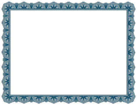 Decorative blue border for creating award certificates free downloads available at http for Blue certificate border