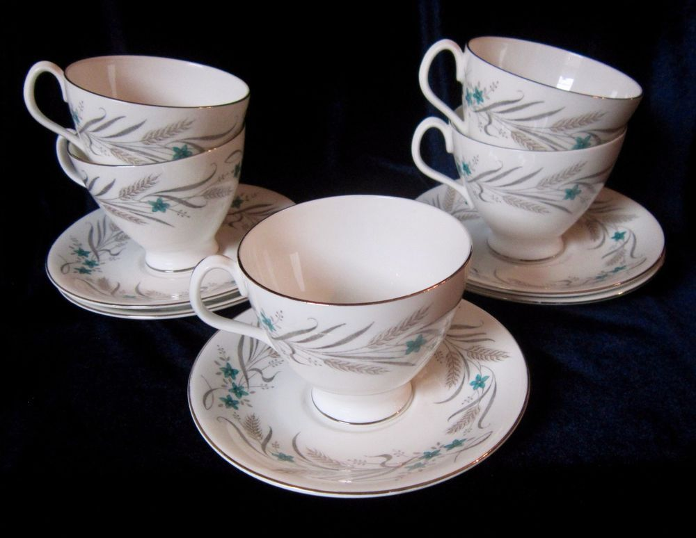 Minton China Grasmere Set of 3  Cups and Saucers