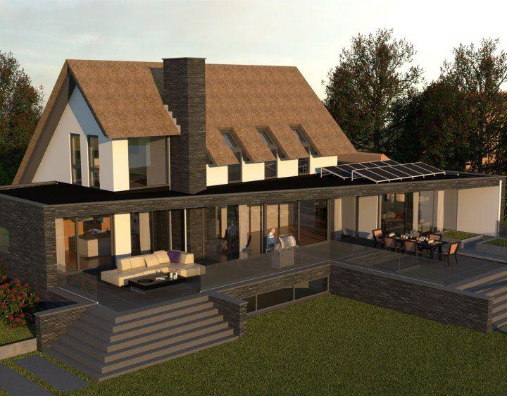Villa P Moderne architectuur woning, Architecten en