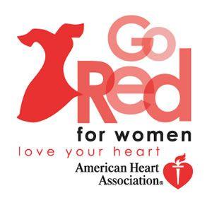 Heart association red dress pin