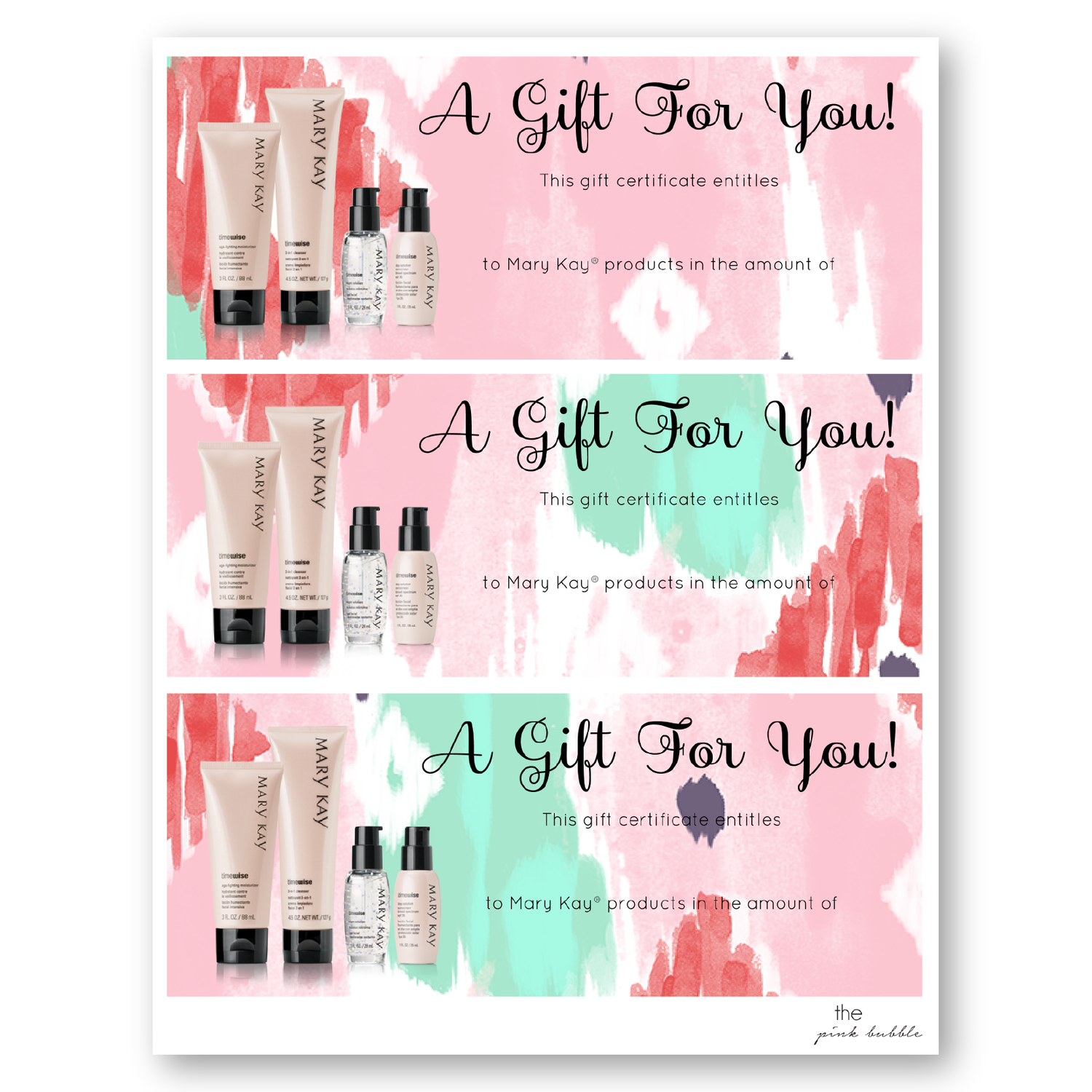 Gift Certificates DI-02.png | Mary Kay | Pinterest | Gift ...