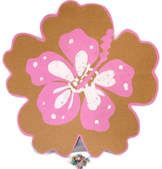 Pottery Barn Kids Aloha Message Board Corkboard Pin Pink