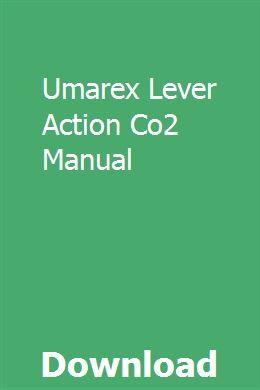 Umarex Lever Action Co2 Manual | unviediati | Engine repair