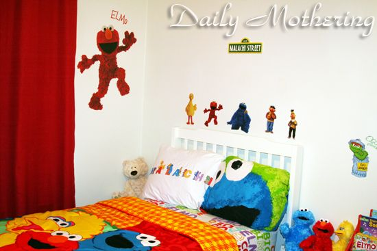 Sesame Street Toddler Kids Room Decor Diy Interior Decor Kid